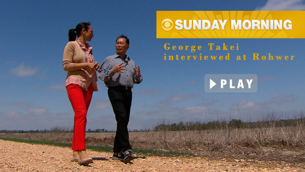 George Takei at the Rohwer site discussing his time here as a child..