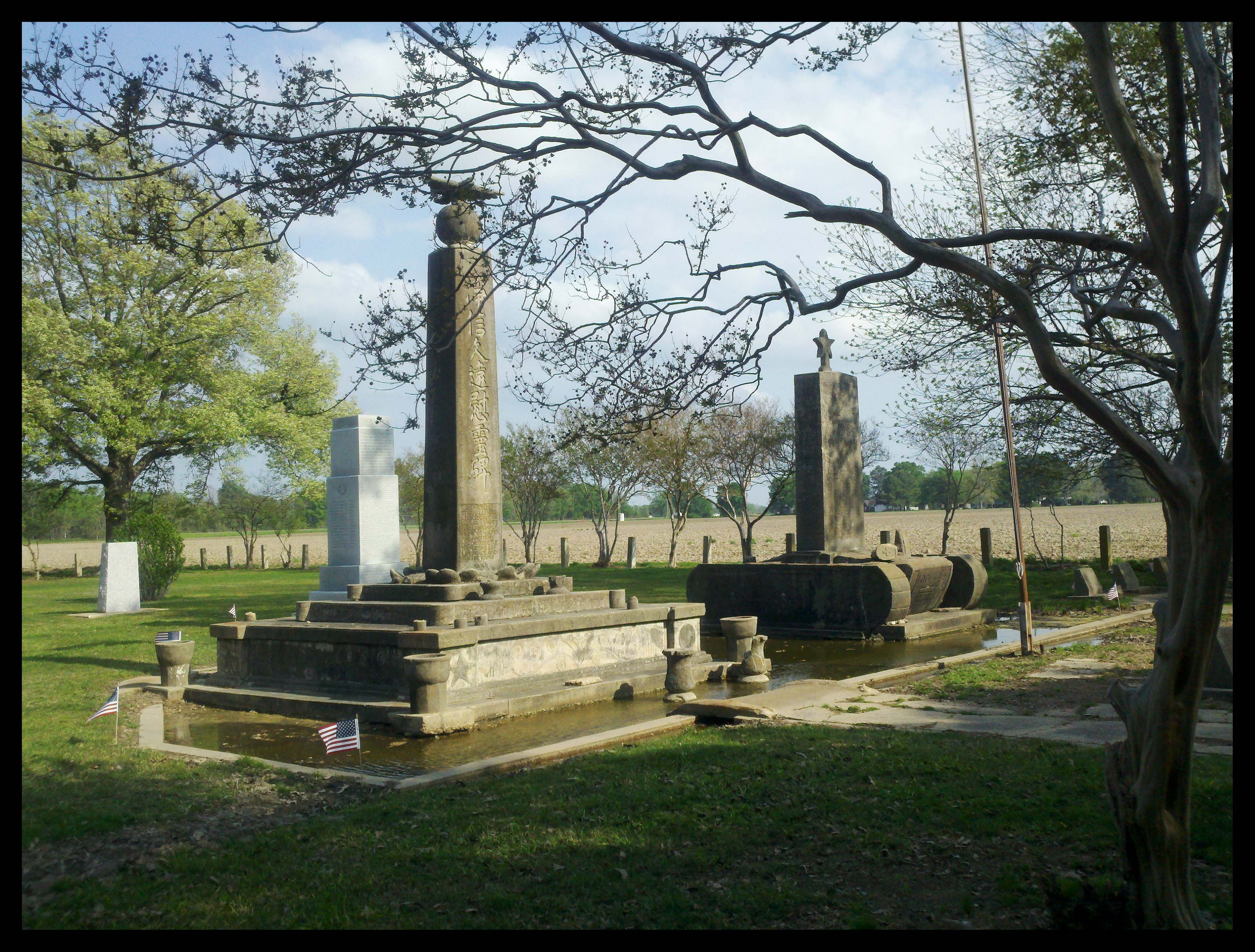 View of Monuments within the Cemetery