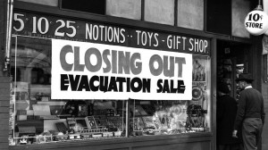 Store closing sale for Japanese American evacuation