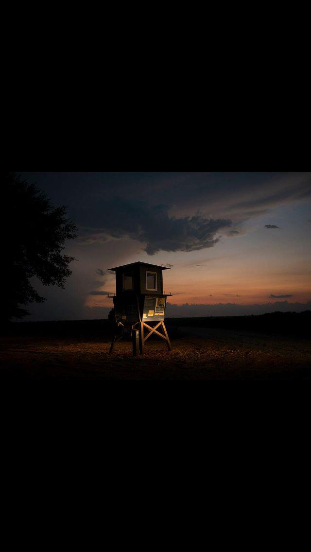 Replica Guardtower at Sunset
